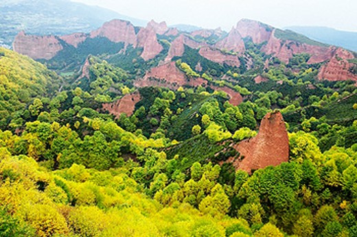 Las Médulas, ancient roman gold mining site. León province. Spain : Stock Photo
