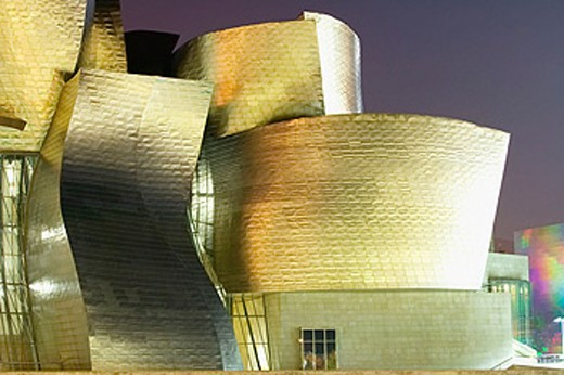 Stock Photo: 1566-0161616 Guggenheim Museum by Frank O. Gehry. Bilbao, Biscay. Euskadi, Spain