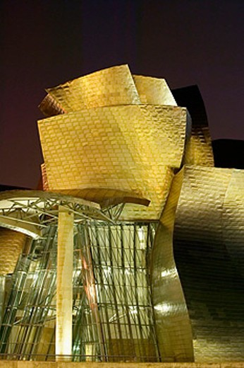 Guggenheim Museum by Frank O. Gehry. Bilbao, Biscay. Euskadi, Spain : Stock Photo
