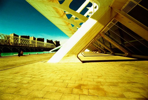 Museo de las Ciencias Príncipe Felipe, City of Arts and Sciences, by S. Calatrava. Valencia. Spain : Stock Photo