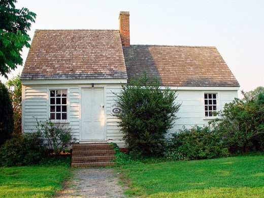 Small home in Saint Michael´s, an historic community on the eastern shore of Maryland : Stock Photo
