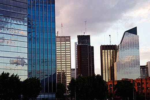 Buenos Aires skyline at dusk. Argentina : Stock Photo