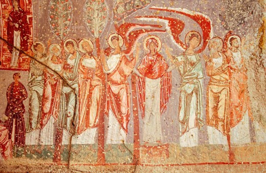 Stock Photo: 1566-0164004 The Nicephorus Phocas church. Cavusin. Cappadocia. Turkey