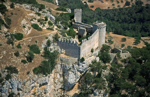 Santueri castle. Felanitx. Majorca, Balearic Islands. Spain : Stock Photo