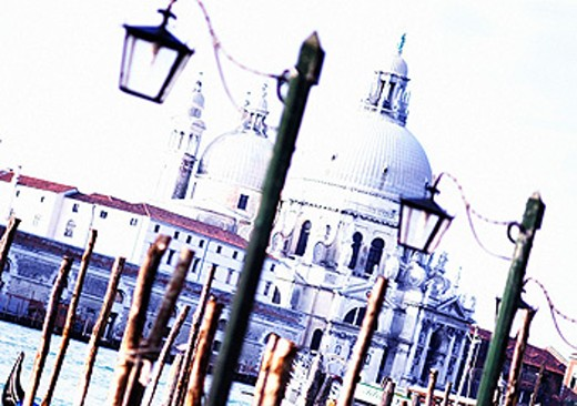 Santa Maria della Salute church from St. Mark´s square. Venice. Italy : Stock Photo