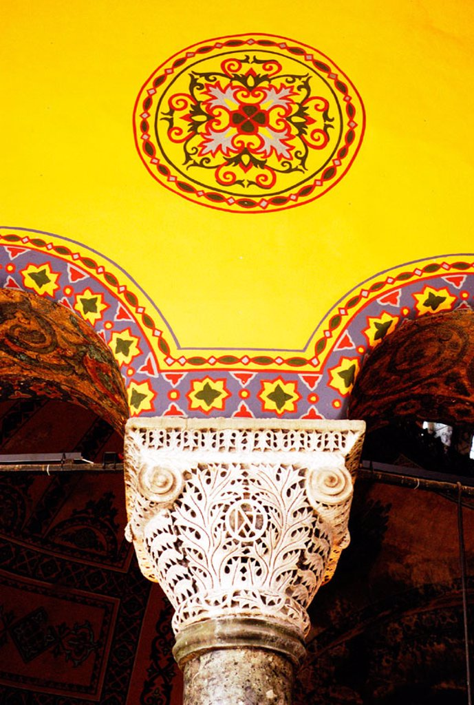 Stock Photo: 1566-0165562 Inside columns of Hagia Sofia. Istanbul. Turkey