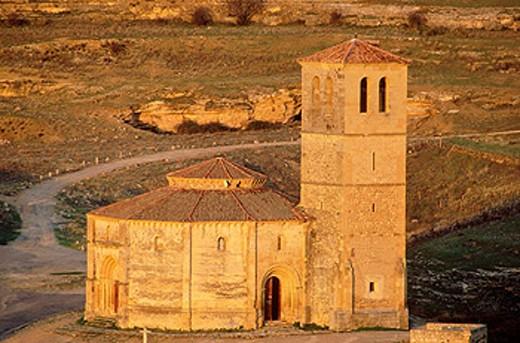 Stock Photo: 1566-0165990 Iglesia de la Vera Cruz. Segovia. Spain