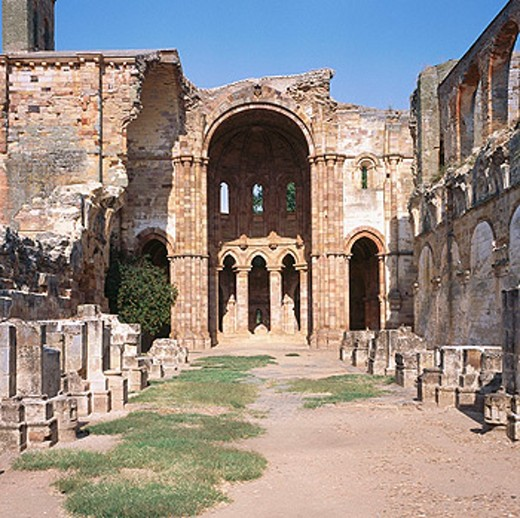Stock Photo: 1566-0166100 Ruins of Santa María de Moreruela Cistercian monastery dating from 12th century. Zamora province, Spain