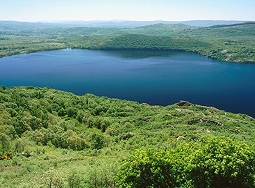 Stock Photo: 1566-0166103 Sanabria Lake. Zamora province, Spain