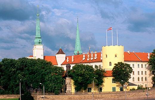 Castle of Riga (16th Century). Riga. Latvia : Stock Photo