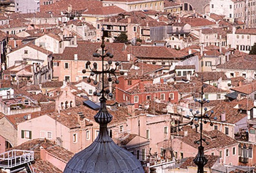 Overview from the Campanile. St. Mark´s Square. Venice. Veneto. Italy : Stock Photo