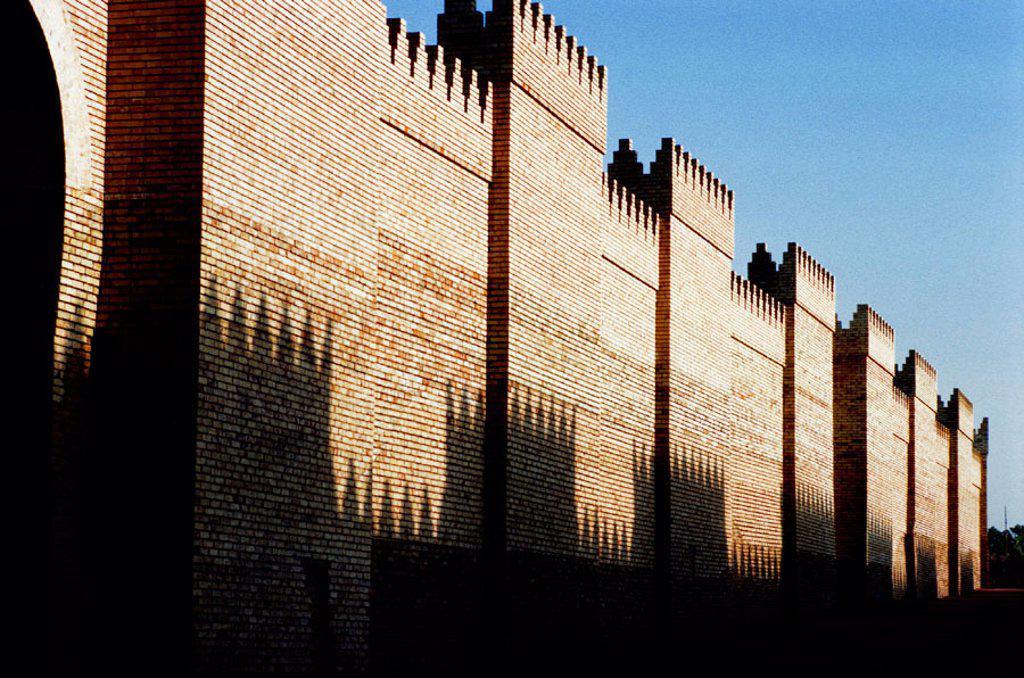 Procession street. South Palace. Archeological site of Babylon. Irak : Stock Photo