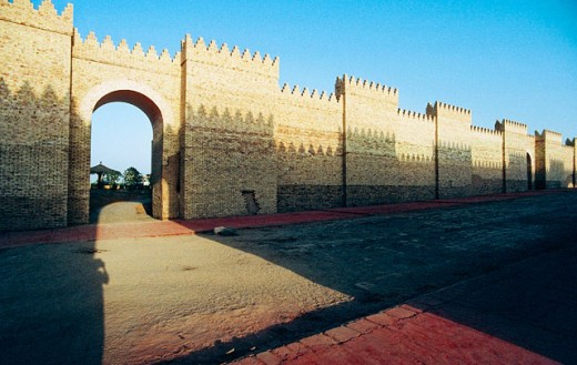 Procession street. South Palace. Archeological site of Babylon. Irak : Stock Photo
