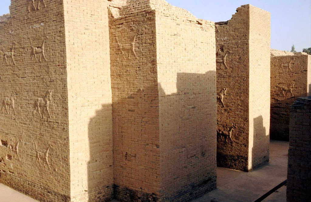 Stock Photo: 1566-0168709 South Palace. Archeological site of Babylon. Irak