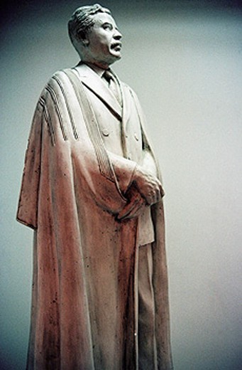 Saddam Hussein ´s statue. Museum of modern art. Bagdad. Iraq : Stock Photo