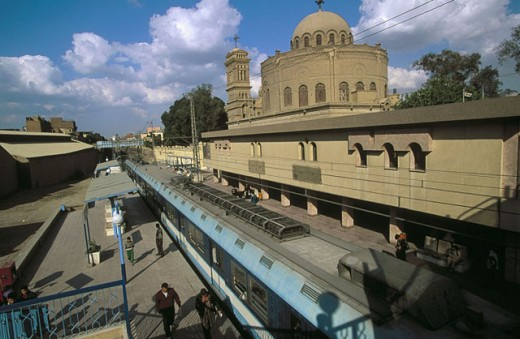 Metro Mari Girgis , a coptic quarter of Cairo´s Old Town. Egypt : Stock Photo