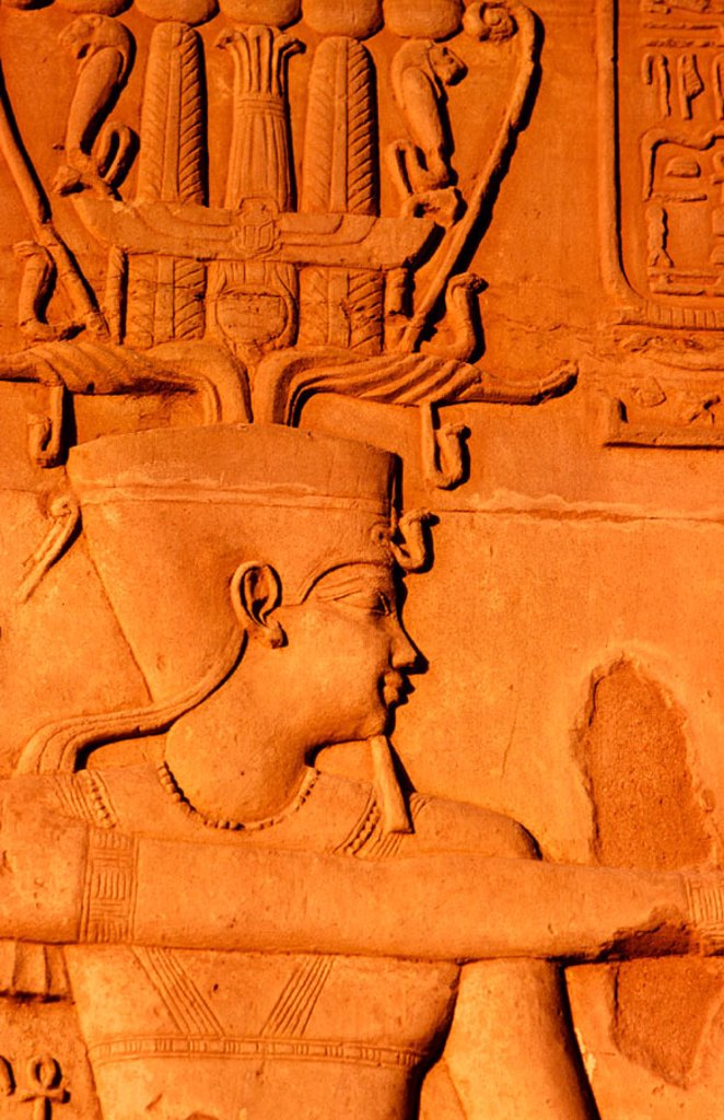Relief in Kom Ombo Temple. Egypt : Stock Photo
