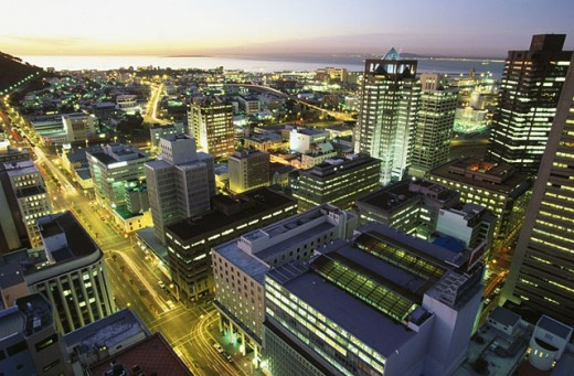 View of Cape Town from above. South Africa : Stock Photo