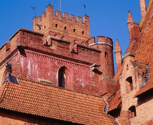 Europe´s largest gothic castle, residence of Teutonic Knights´ grand master. Malbork. Pomerania. Poland : Stock Photo