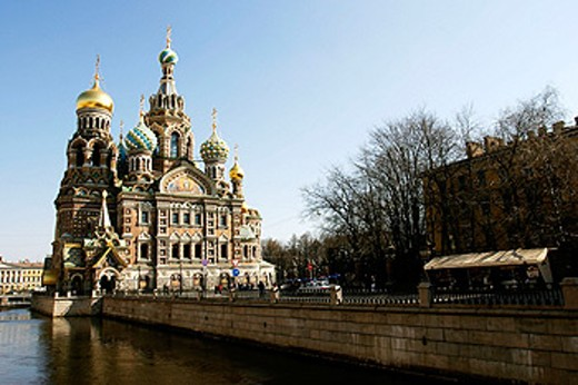 Stock Photo: 1566-0172007 The Resurrection Church of Jesus Christ, Saint-Petersburg, (St. Petersburg) Russia.