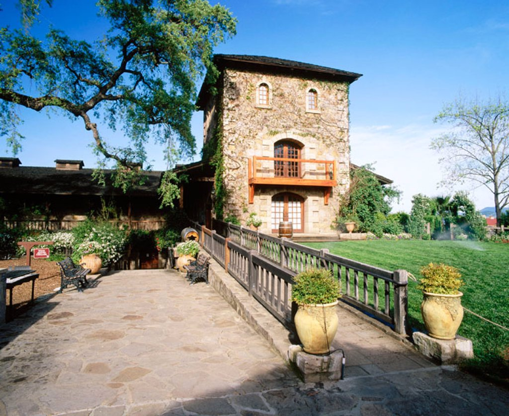 V. Sattui Winery. St. Helena. Napa Valley. California. USA : Stock Photo