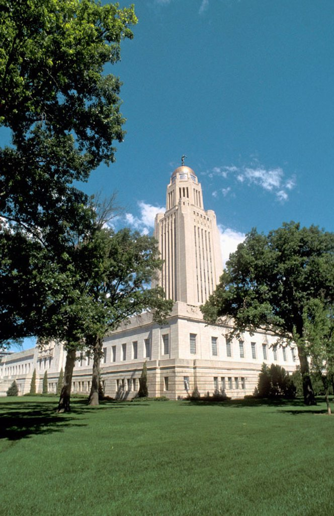 Stock Photo: 1566-0172497 Capitol Building. Lincoln, Nebraska. USA.