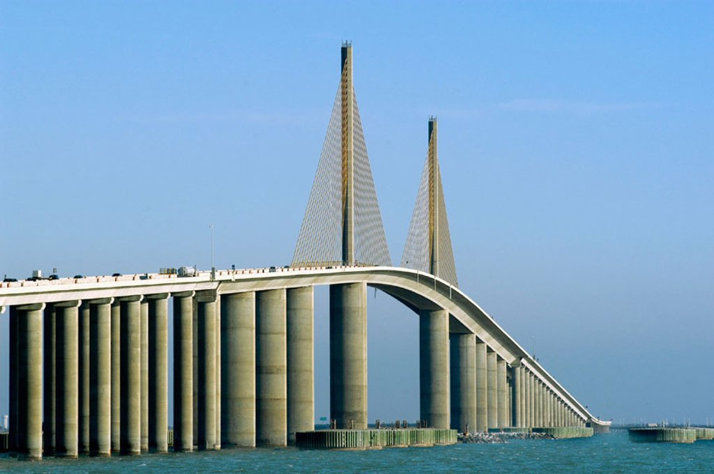 Stock Photo: 1566-0172545 Sunshine Skyway Bridge. St. Petersburg. Florida, USA