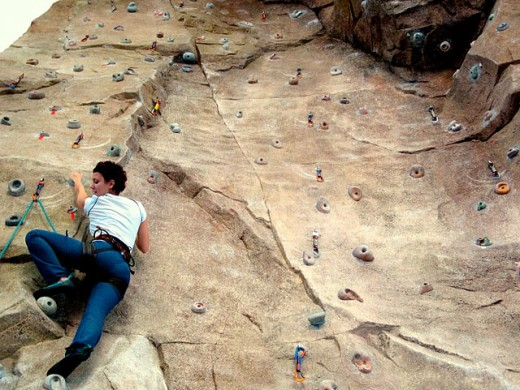 Stock Photo: 1566-0172680 Climbing wall, Universidad Politénica de Valencia. Spain