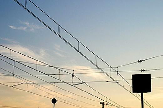 Stock Photo: 1566-0173637 Railroad cables