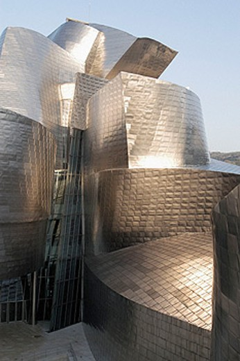 Stock Photo: 1566-0174655 Guggenheim Museum by Frank O. Gehry. Bilbao. Biscay, Spain
