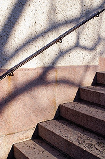 Stock Photo: 1566-0176526 Stairs and handrail