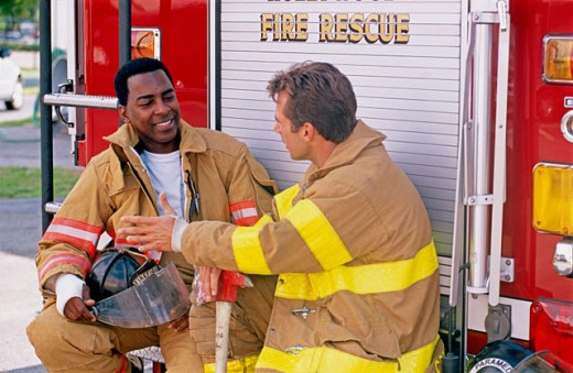 firemen : Stock Photo