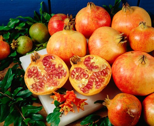 Pomegranates : Stock Photo