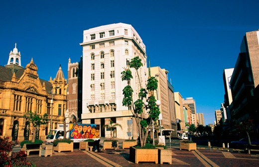 City hall victorian building , downtown. Port Elisabeth. South Africa : Stock Photo