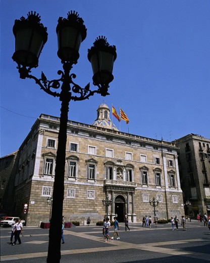 Palacio de la Generalitat (seat of the catalan government). Barcelona. Spain : Stock Photo