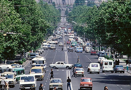 Mashtotz Avenue. Yerevan. Armenia : Stock Photo