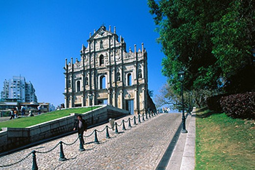 Ruins of Saint Paul Church. Macau. China : Stock Photo