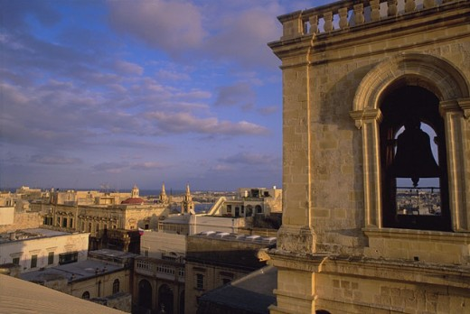 Stock Photo: 1566-0181738 Elevated view from St. John´s Cathedral. Valletta. Malta