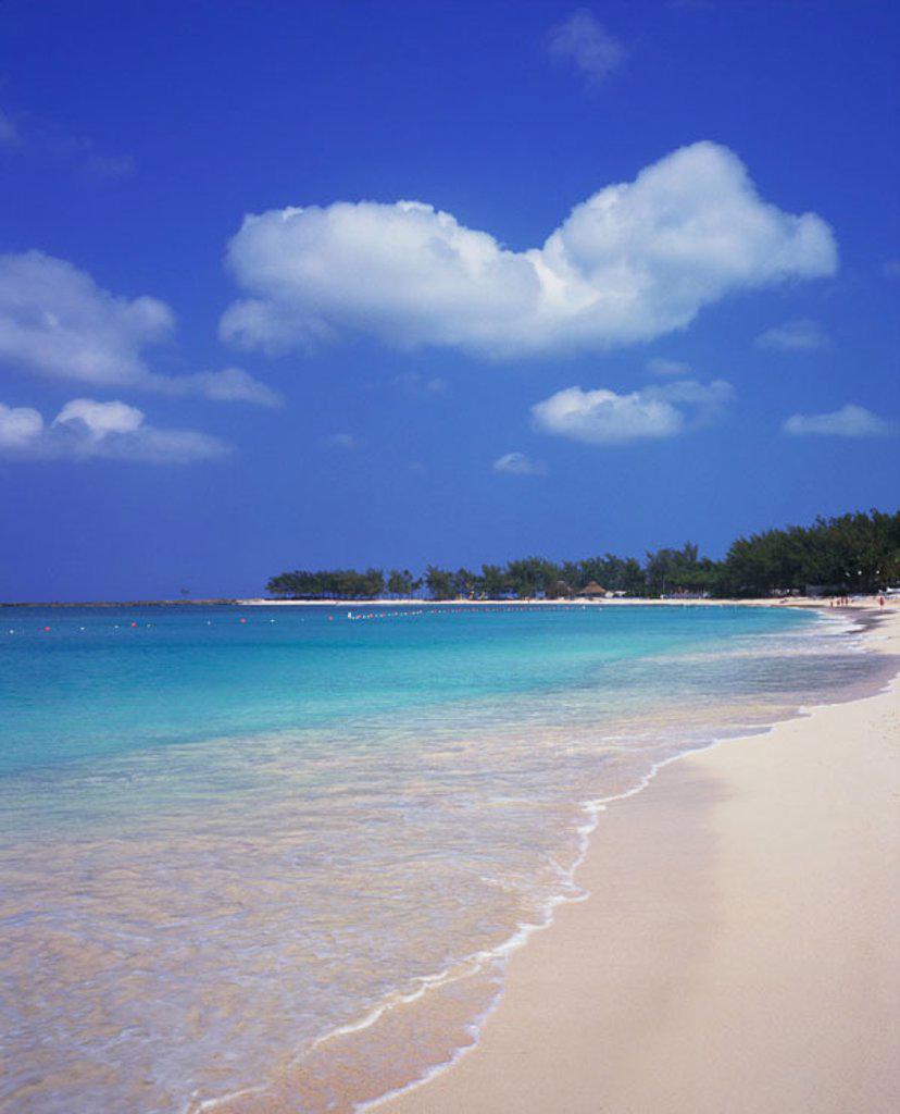 Stock Photo: 1566-0181938 Paradise Beach. Paradise Island. New Providence. Bahamas