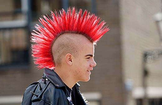 Stock Photo: 1566-0183473 Punk boy
