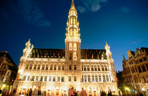 Hotel de Ville, Grande Place. Brussels. Belgium : Stock Photo