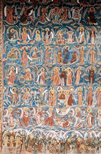 Moldovita monastery. Bucovina. Romania : Stock Photo