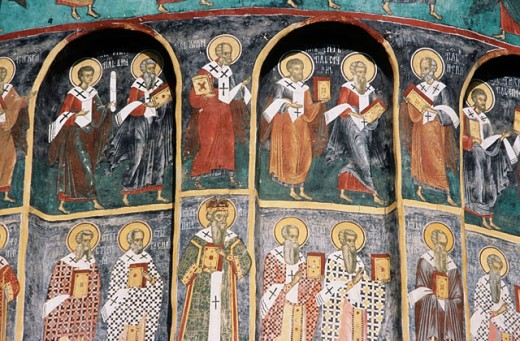 Sucevita monastery. Bucovina. Romania : Stock Photo