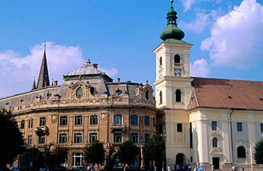 Roman catholic cathedral. Sibiu (Nagyszeben). Romania : Stock Photo