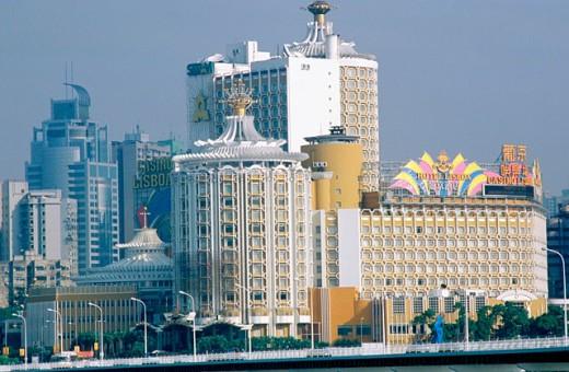 Stock Photo: 1566-0184017 Casino & Hotel Lisboa. Macau. China