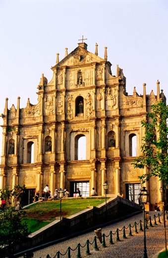 Stock Photo: 1566-0184018 Ruins of Saint Paul´s church. Macau, China