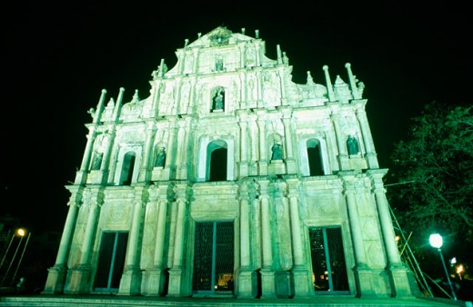 Ruins of Saint Paul´s church. Macau, China : Stock Photo