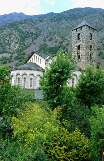 Stock Photo: 1566-0184090 Church of Sant Joan de Caselles in Andorra