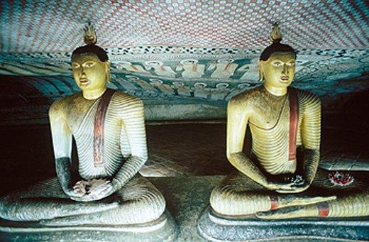 Cave Temple. Dabulla. Sri Lanka : Stock Photo