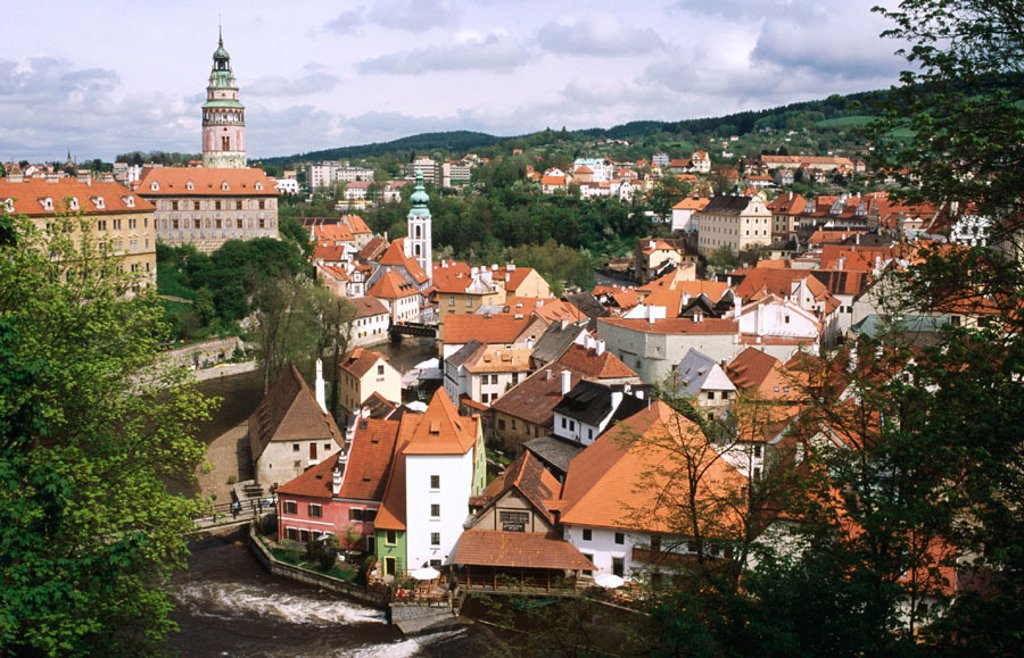 Stock Photo: 1566-0184612 General View. Ceský Krumlov. Czech Republic.